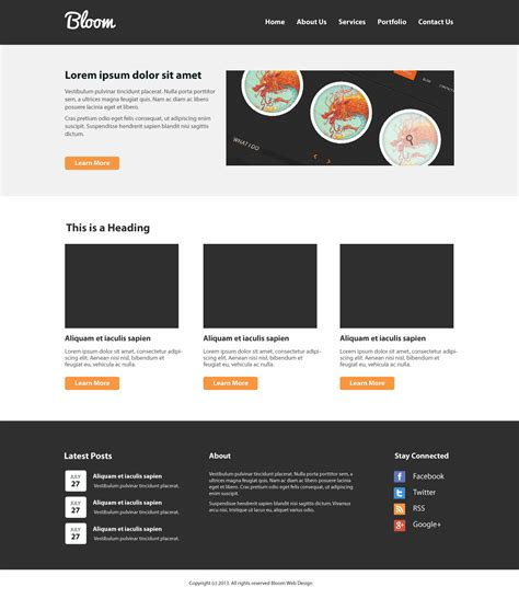 web page layout design with css 20 great psd to html css conversion tutorials stunning feed