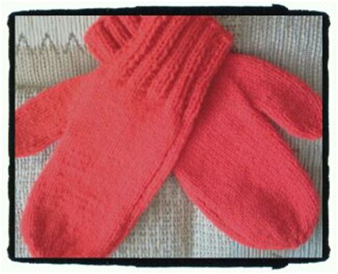 knitted mittens on 2 needles knitit free knitting pattern no 7 two needle mittens