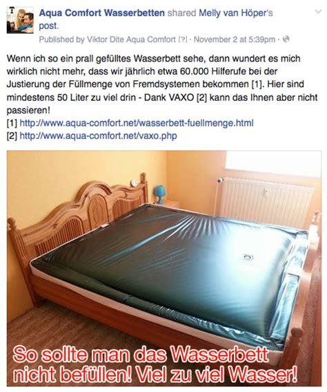 Wasserbett Füllmenge Richtig Einstellen by Ein Wasserbett St 252 Tzt Den K 246 Rper Nicht Richtig Oder