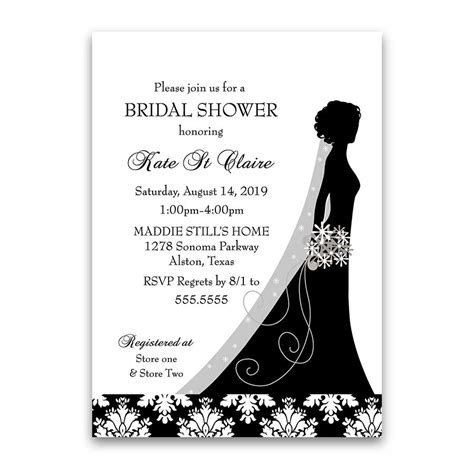 black and white damask bridal shower ideas damask wedding bridal shower invitations black white floral