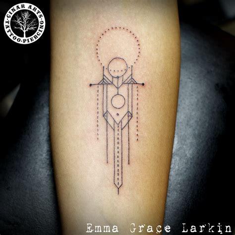 lloyd tattoos frank lloyd wright inspired geometric line forearm