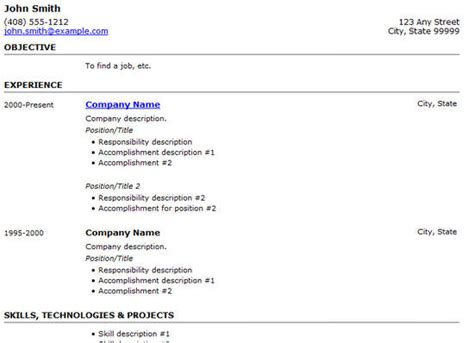 simple resume exles 2014 25 free html resume templates for your successful