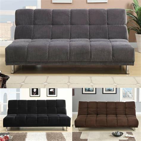 modern living comfort microfiber adjustable sofa bed sleeper futon color option ebay