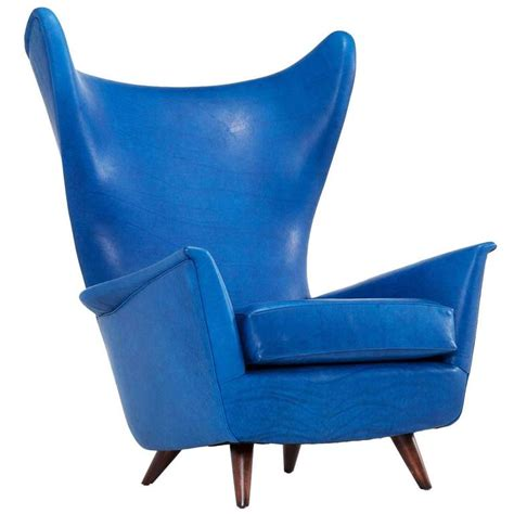 mid century leather wingback chair for sale at pamono mid century reupholstered italian wingback chair for sale