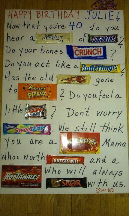 Bar Birthday Card Sayings Candy Bar Poem Diy Gifts Pinterest Birthdays Candy