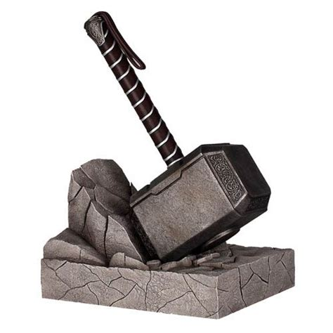 thor mjolnir hammer bookend statue gentle giant thor