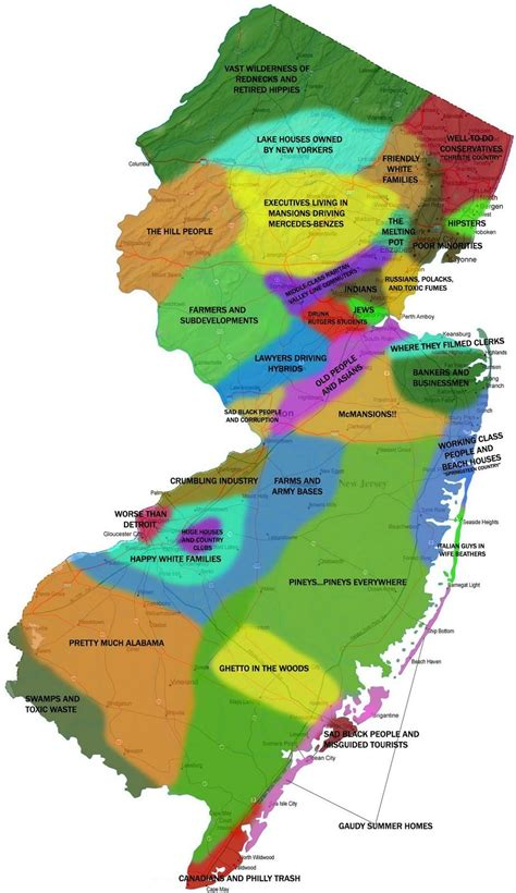 new jersey colors new jersey cultural map