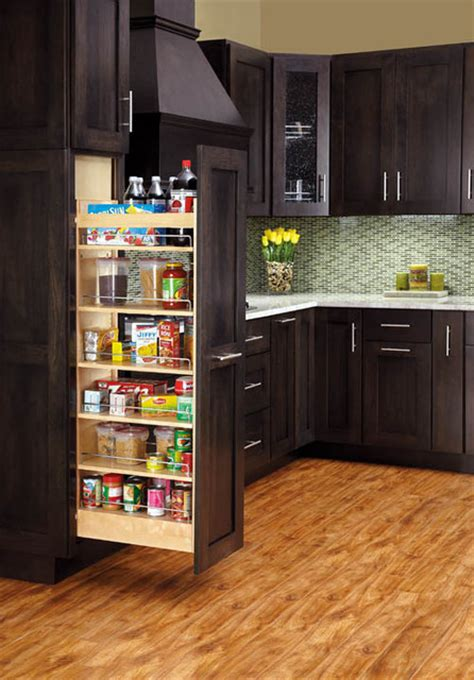 kitchen cabinets pull out pullout wood pantry