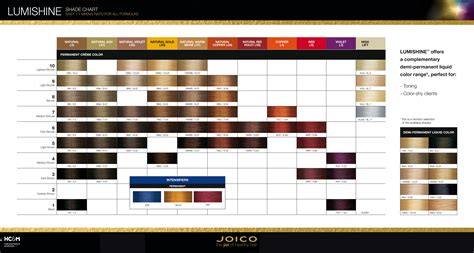 joico lumishine shade chart dec 15 color charts