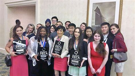 Icdc College Acceptance Letter Deca Team All Business At International Competition News Shoreline Community College