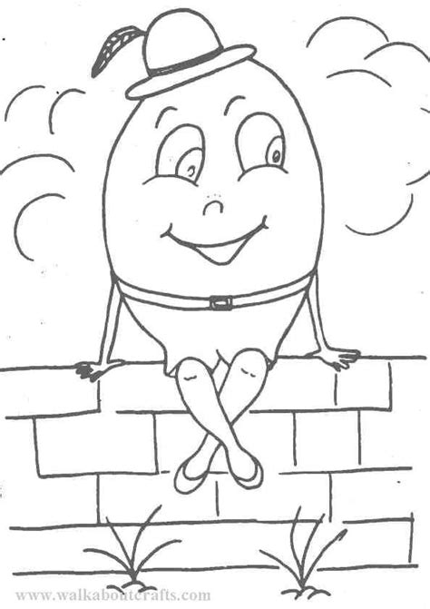 Colouring In Pictures Print And Colour Humpty Dumpty Image Humpty Dumpty Coloring Pages