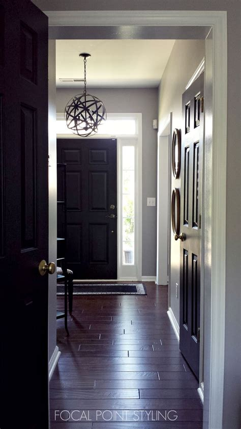 Painting Interior Doors Black Focal Point Styling How To Paint Interior Doors Black Update Brass Hardware