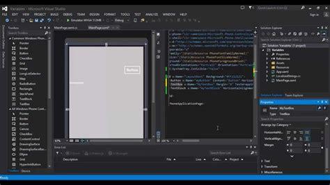 tutorial excel windows phone 8 windows phone 8 development tutorial 4 layouts