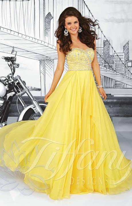 tiffany designs  shine bright chiffon gown prom dress
