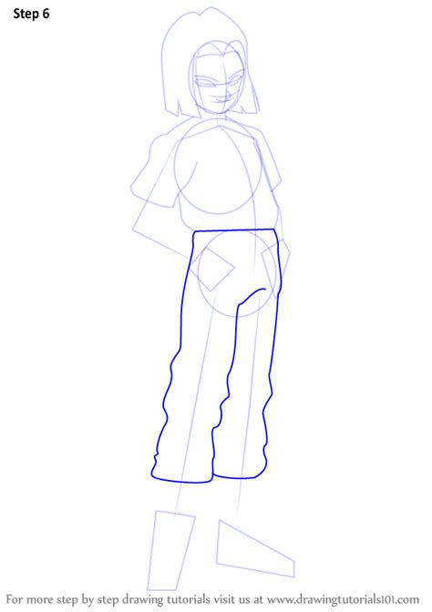 tutorial line art android learn how to draw android 17 from dragon ball z dragon