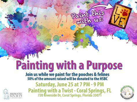 paint with a twist coral springs weekly pet flyer may 19 2016 humane society of broward