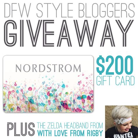 Does Nordstrom Rack Take Nordstrom Gift Cards by 200 Nordstorm Gc Giveaway With Dfw Style Closed