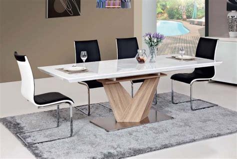 Supérieur Salle A Manger Bois Clair #1: table-à-manger-extensible-blanche-pied-central-bois-massif.jpg