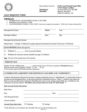 loan request form fillable local4funds loan request form iuoe local