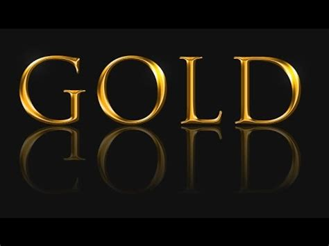 gold color photoshop create gold text in adobe photoshop