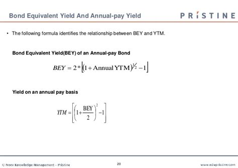 Bond Equivalent Yield Mba by Fixed Income Securities Analysis And Valuation