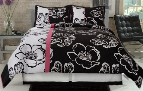 black white pink comforter black and white 4 piece comforter set with pink