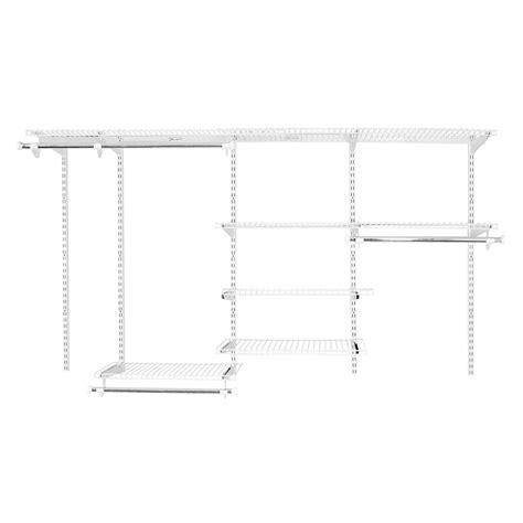 Wire Closet Shelving Kits Shop Rubbermaid Homefree Series 4 Ft To 8 Ft White