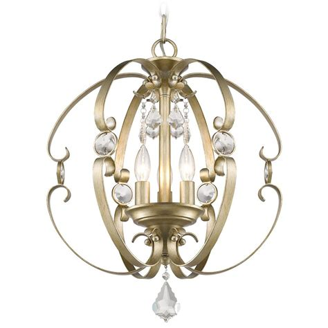 Gold Pendant Light Golden Lighting Ella White Gold Pendant Light 1323 3p Wg Destination Lighting