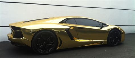 gold lamborghini aventador cars on the streets of
