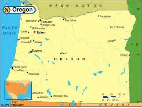 oregon geography map oregon map and oregon satellite images
