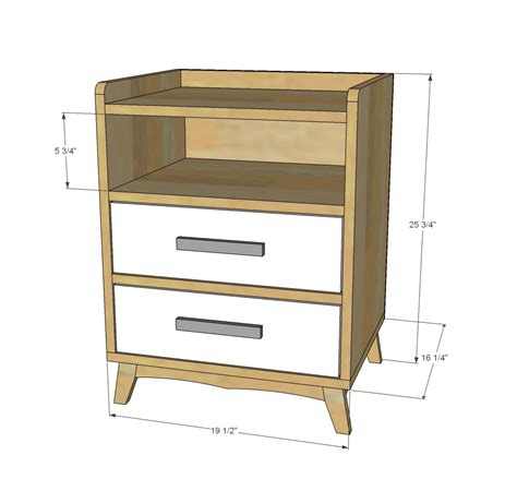 1 drawer nightstand plans woodworking diy nightstand with drawers plans download