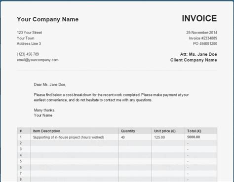 invoice template generator 22 unique woodworking invoice egorlin