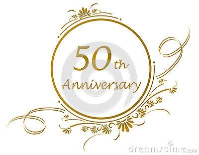 50th Anniversary Design Stock Photography   Image: 26274592