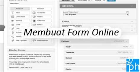 membuat wordpress online cara membuat formulir online form kontak di wordpress