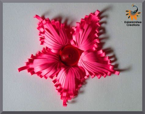 tutorial paper quilling 3d majestic quilled flower tutorial kalanirmitee creations