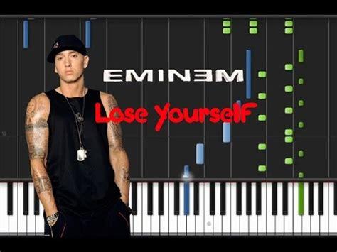 tutorial piano eminem eminem lose yourself piano tutorial youtube