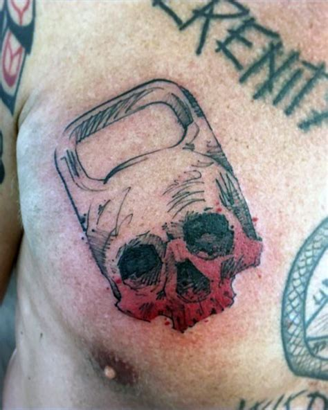 chest tattoo working out top 60 best crossfit tattoos for men workout ink design