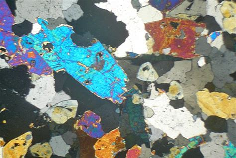 tourmaline thin section quartz schorl rock cornwall thin section microscope