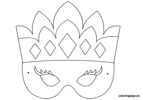 masks template 8 best images of printable princess masks mask