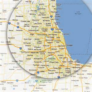 Map Of Chicago Land Area by Chicagoland Door Repair Service Areas