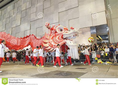 new year parade hong kong hong kong new year parade editorial image