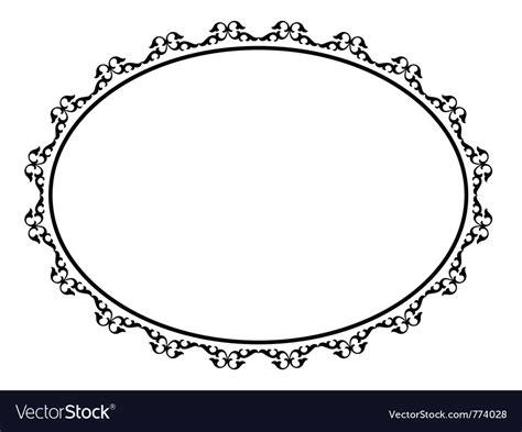 decorative oval border oval ornamental decorative frame royalty free vector image