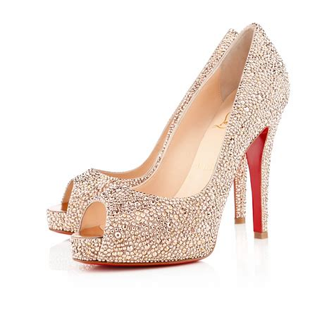 shoes con christian louboutin riche strass in gold black lyst