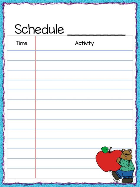 class schedule template 8 free sample example format download