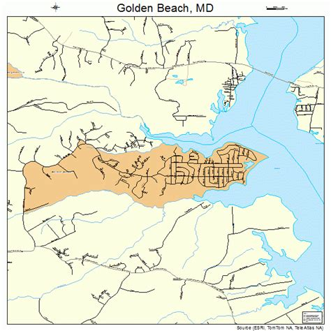 maryland map beaches golden maryland map 2433850