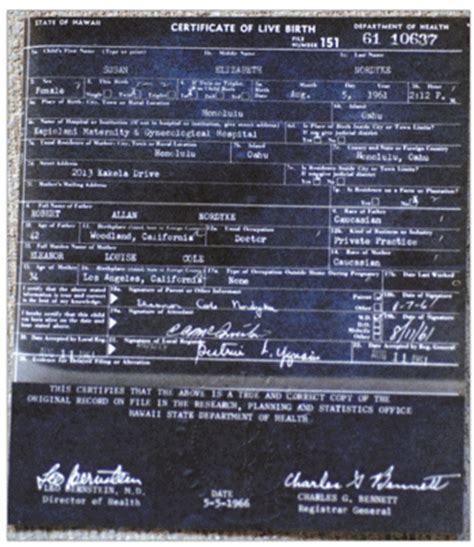 Hawaii Birth Records Unveiled Hawaii S 1961 Form Birth Certificates