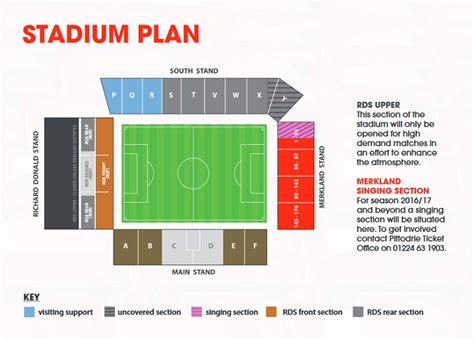 stadium plan ticket info aberdeen fc