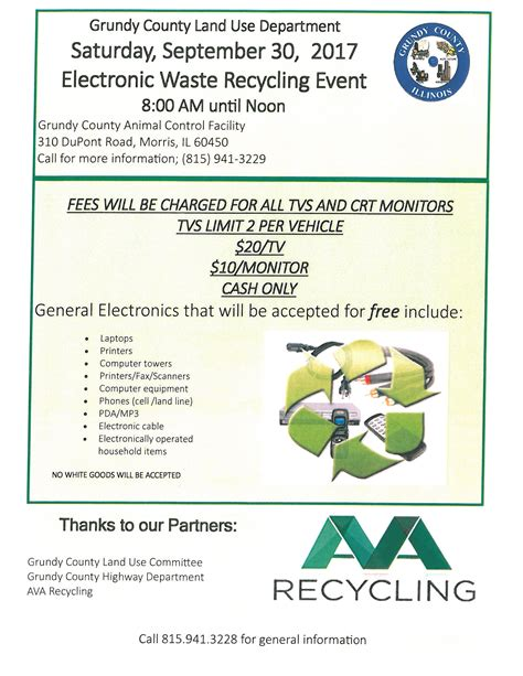 Grundy County Circuit Clerk Search E Waste Event 9 30 17 Grundy County