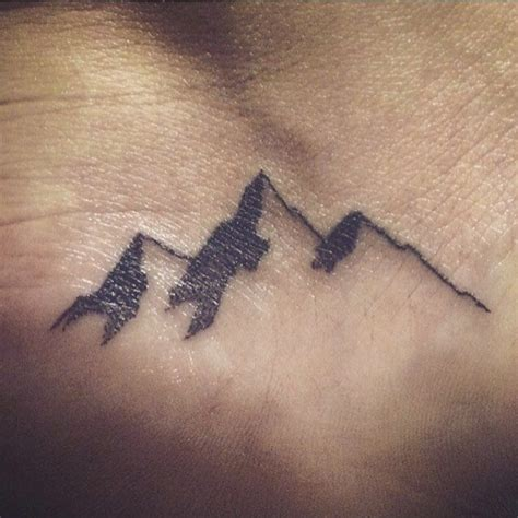 mountain silhouette tattoo 17 best ideas about small mountain on