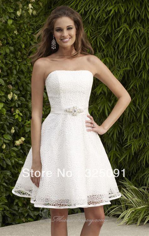 vintage strapless short wedding dresses sang maestro